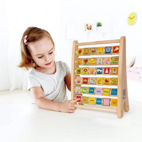 Alfabetar și Abac din lemn, jucărie Montessori