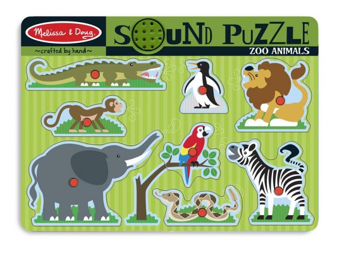 Puzzle de lemn cu animale si sunete